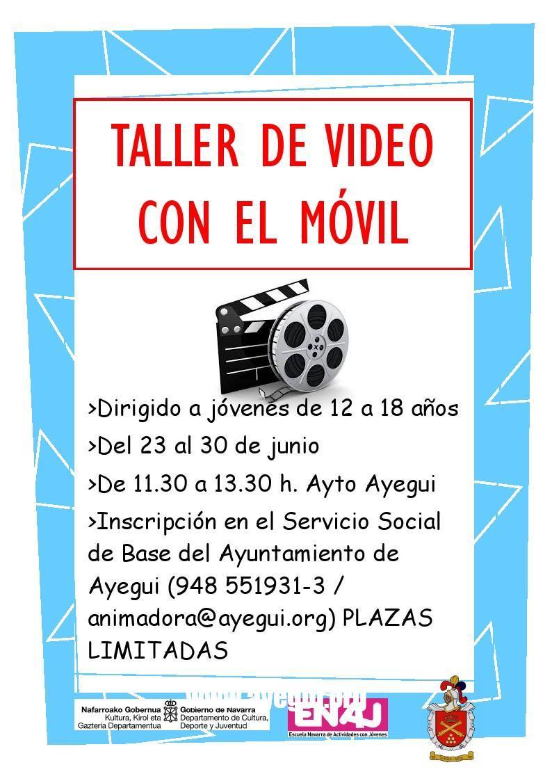 Taller de vídeo con el móvil. Ayuntamiento de Ayegui