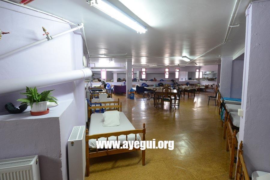 Interior del Albergue de peregrinos. Ayegui