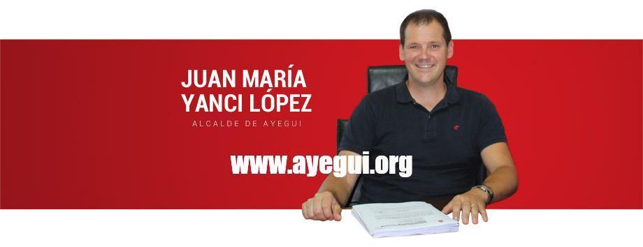 Juan María Yanci López. Alcalde de Ayegui